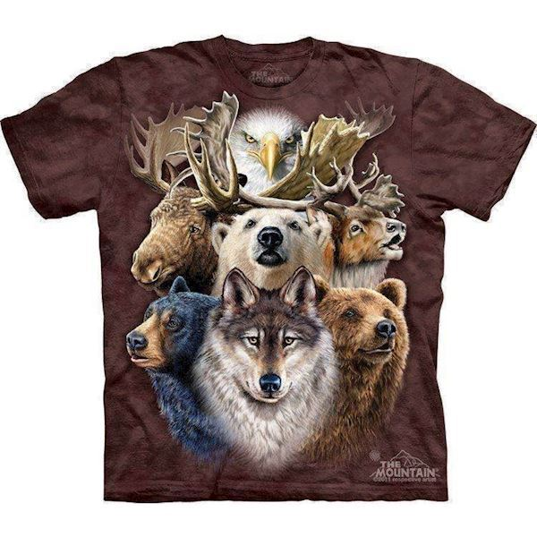 N/A Northern wildlife collage t-shirt på mypets.dk