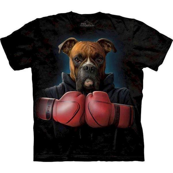 N/A T-shirt med boxer motiv på mypets.dk