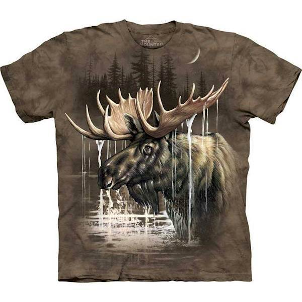 N/A T-shirt med stort elg motiv fra mypets.dk