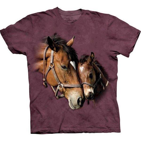 N/A T-shirt med stort heste motiv på mypets.dk