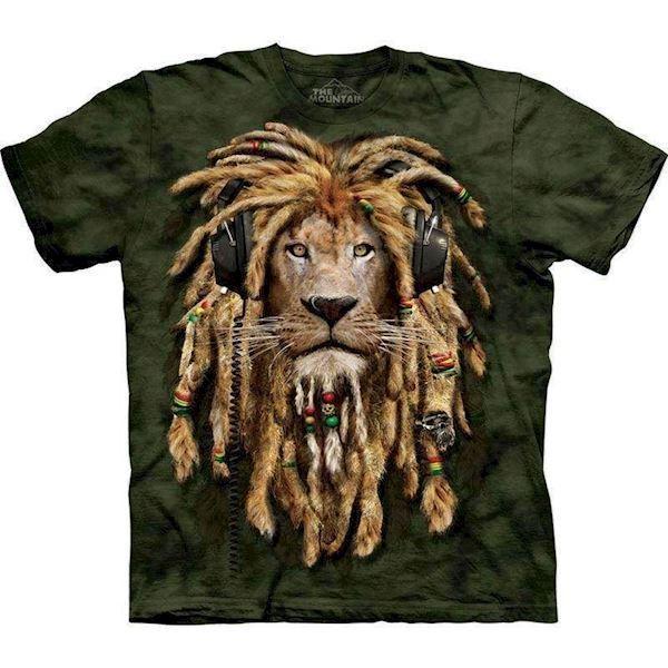 T-shirt med rastafari løve fra N/A fra mypets.dk