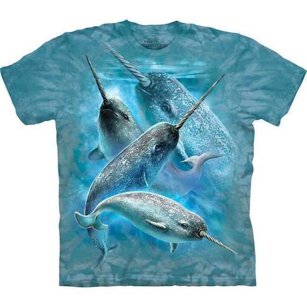 N/A – T-shirt med narhval motiv fra mypets.dk