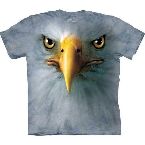 N/A – T-shirt med kæmpe ørne ansigt fra mypets.dk