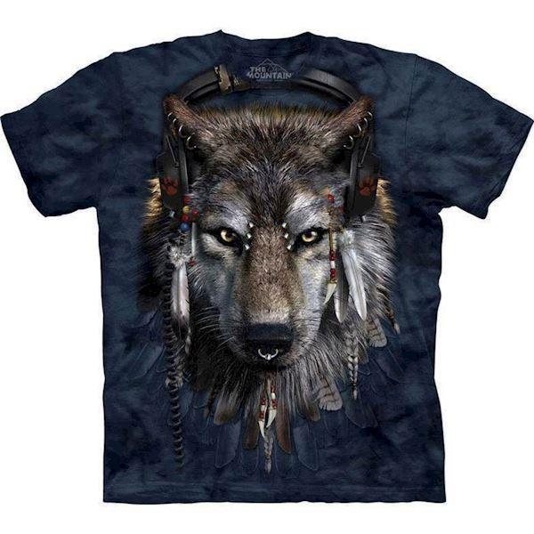 N/A T-shirt med rastafari ulv fra mypets.dk