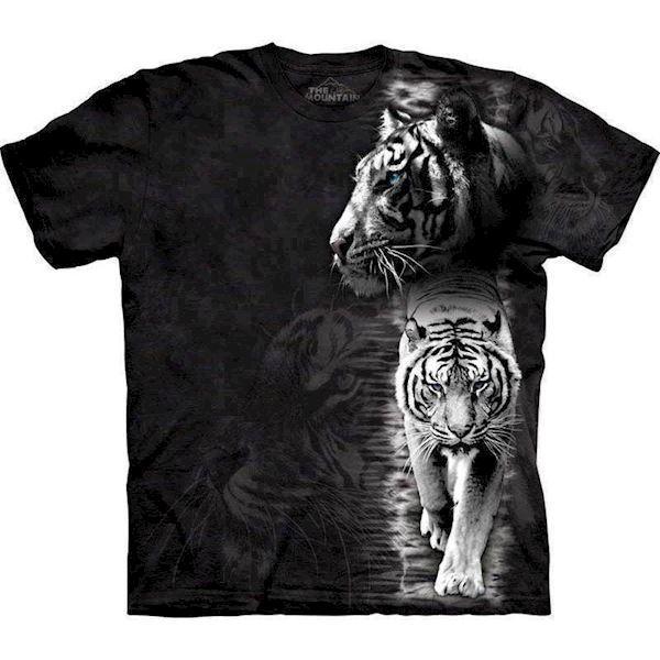 N/A – T-shirt med hvid tiger motiv på mypets.dk