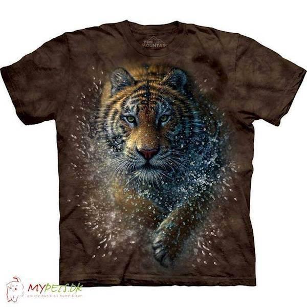 N/A T-shirt med tiger splash motiv fra mypets.dk