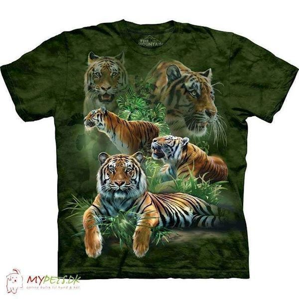 N/A – T-shirt med jungle tigere motiv på mypets.dk