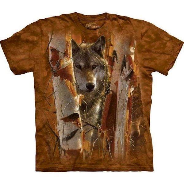 N/A – T-shirt med ulv i skoven på mypets.dk