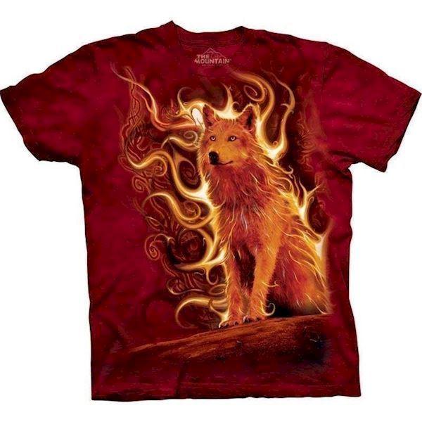 N/A T-shirt med motivet phoenix wolf fra mypets.dk