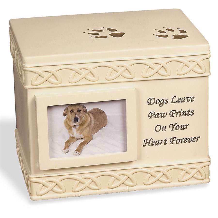 N/A – Hunde urne, box urn, dog paw print fra mypets.dk