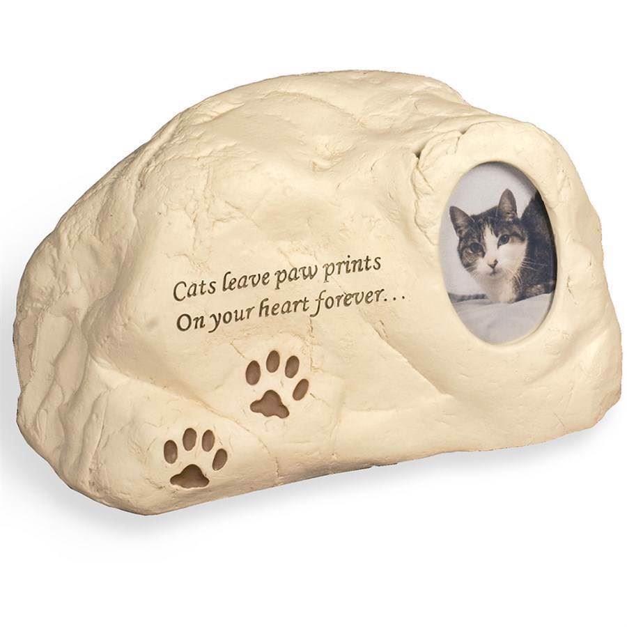 N/A – Katte urne, rock urn, cat paw  prints på mypets.dk