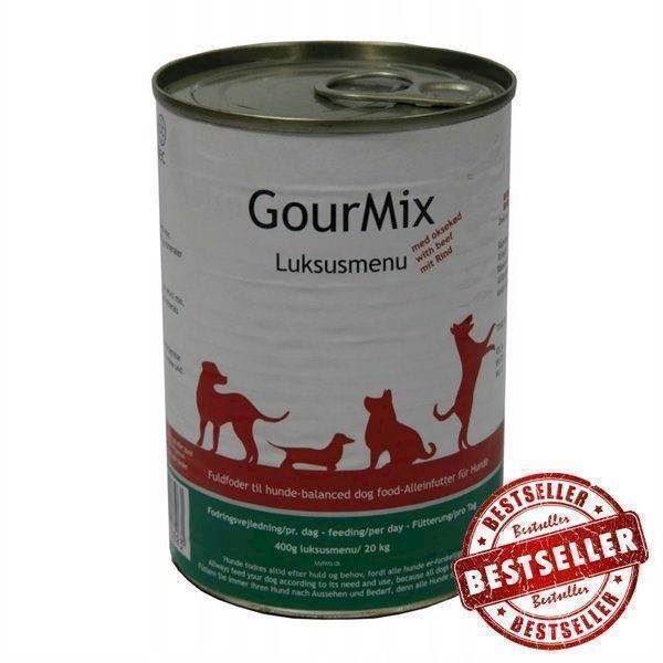 Gourmix luksus dåsemad med oksekød, hund 400g fra N/A på mypets.dk