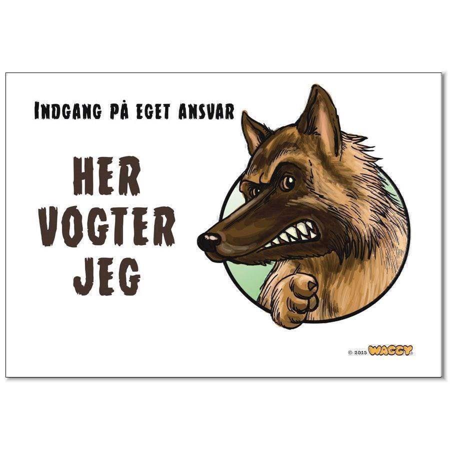 Waggy her vogter jeg skilt, hyrdehund fra N/A på mypets.dk