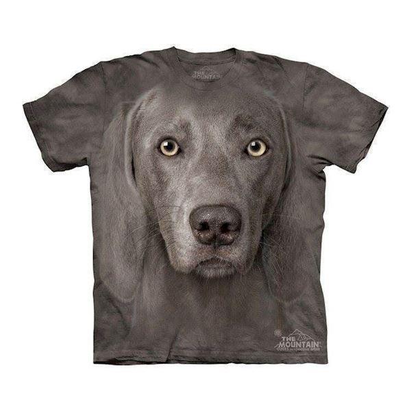 N/A T-shirt med kæmpe weimaraner ansigt på mypets.dk