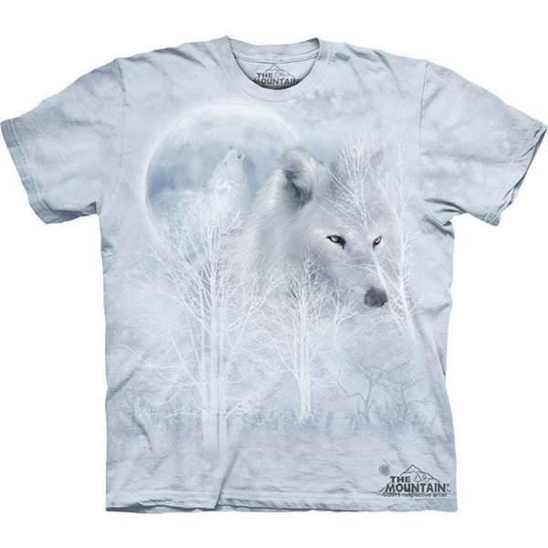 N/A White wolf moon t-shirt fra mypets.dk