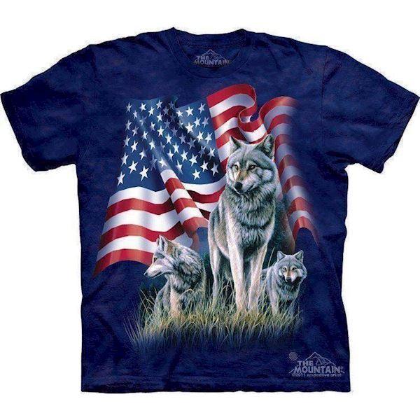 N/A – Wolf flag t-shirt på mypets.dk