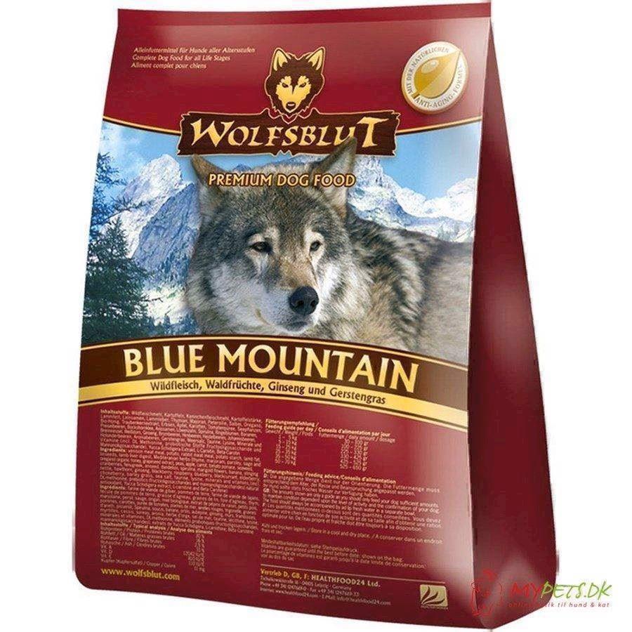 N/A Wolfsblut blue mountain med råvildt, 2 kg fra mypets.dk