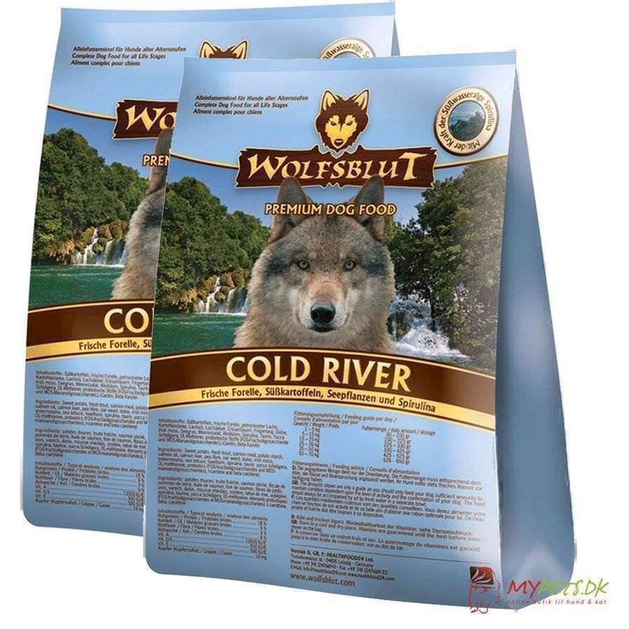 N/A 2 x 15 kg. wolfblut cold river storkøb rabat fra mypets.dk