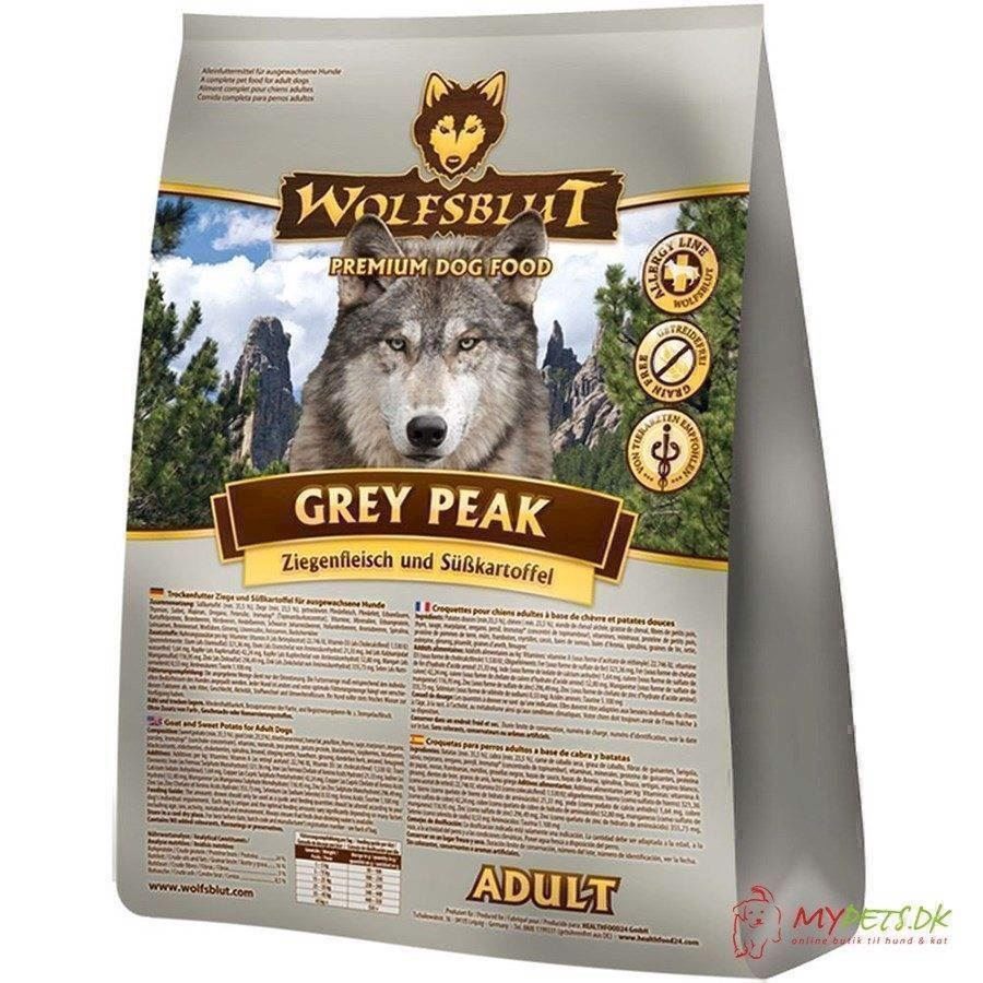 Wolfsblut grey peak adult med ged & hest, 2 kg fra N/A på mypets.dk