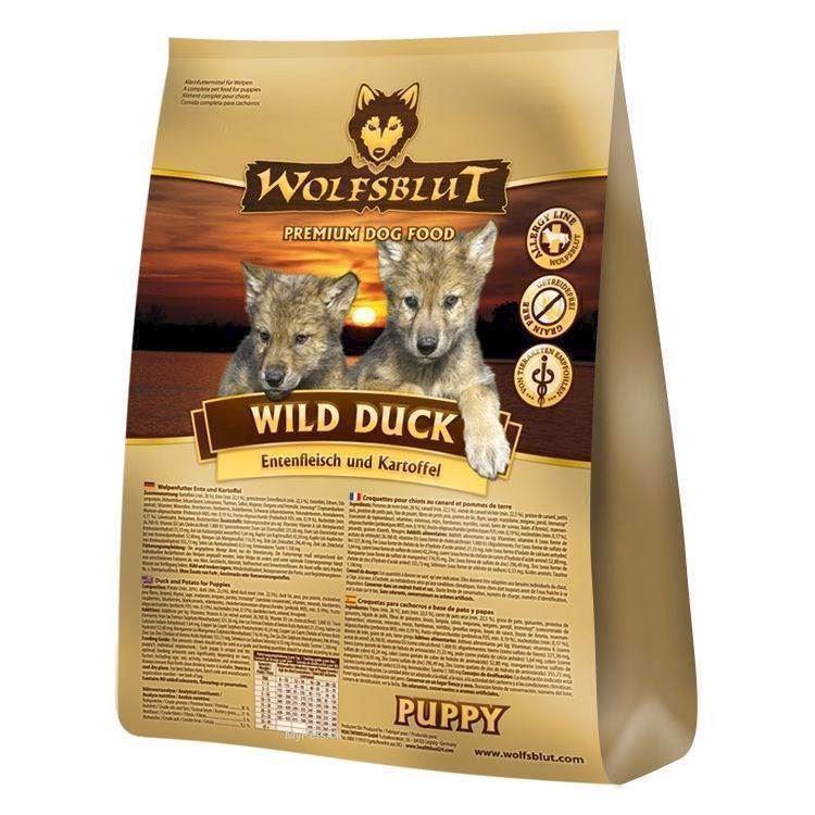 N/A Wolfsblut wild duck puppy med and, 15 kg på mypets.dk