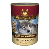 WolfsBlut Blue Mountain dåsemad, 395 gr.