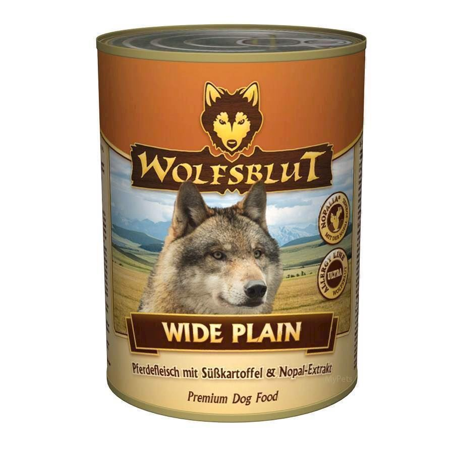 Wolfsblut wide plain dåsemad, 395 gr. fra N/A på mypets.dk