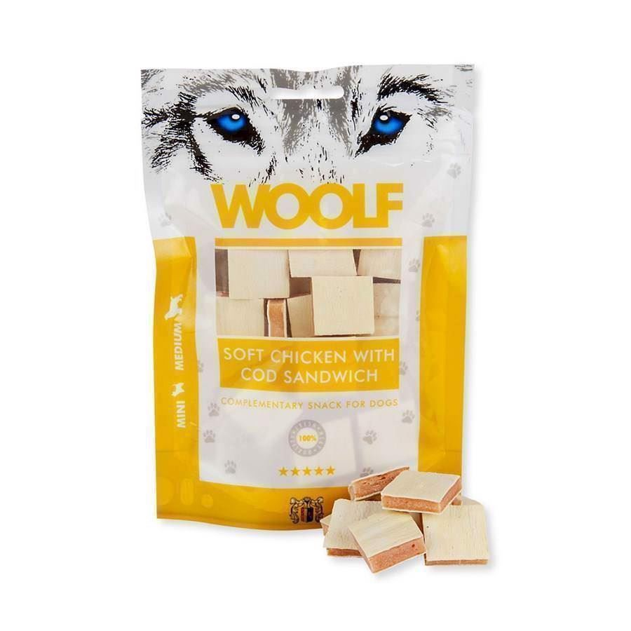 Woolf soft chicken with cod sandwich fra N/A på mypets.dk