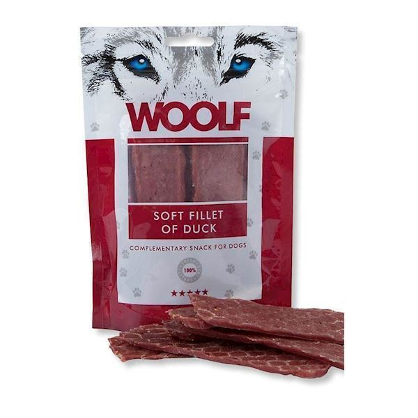 N/A Woolf soft strips of duck fra mypets.dk