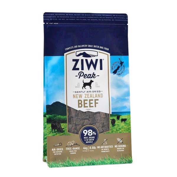 Ziwipeak lufttørret kød med okse, 4 kg fra N/A på mypets.dk