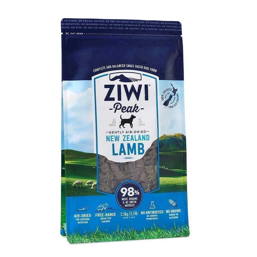 ZiwiPeak lufttørret kød med lam, 2,5 kg