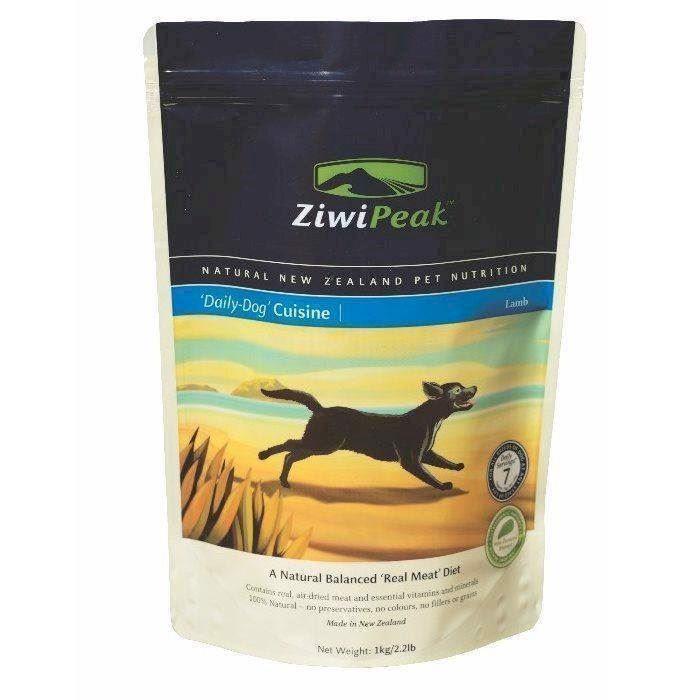 ZiwiPeak lufttørret kød med lam, 1 kg