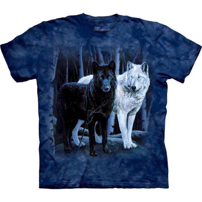 T-shirt b&w wolves fra N/A på mypets.dk