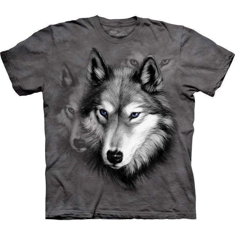 T-shirt wolf portrait fra N/A på mypets.dk