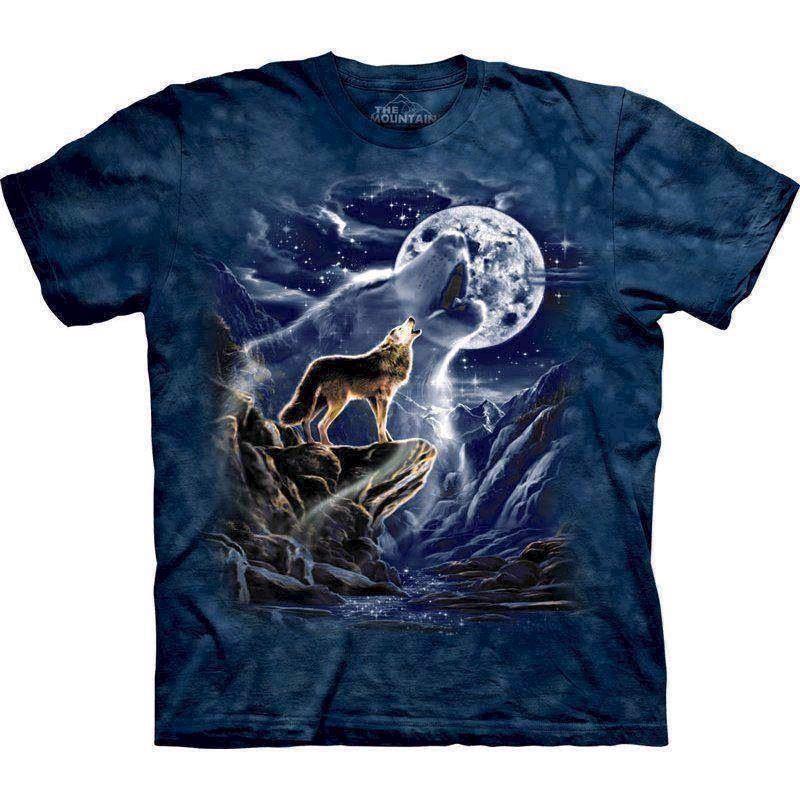 N/A T-shirt wolf spirit moon på mypets.dk