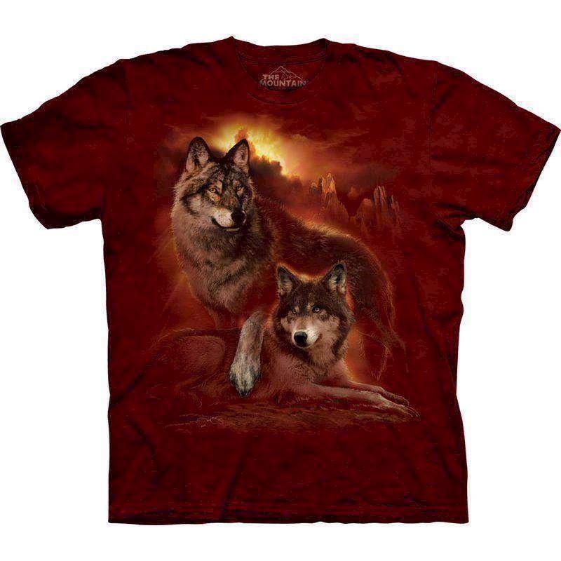 N/A – T-shirt wolf sunset fra mypets.dk