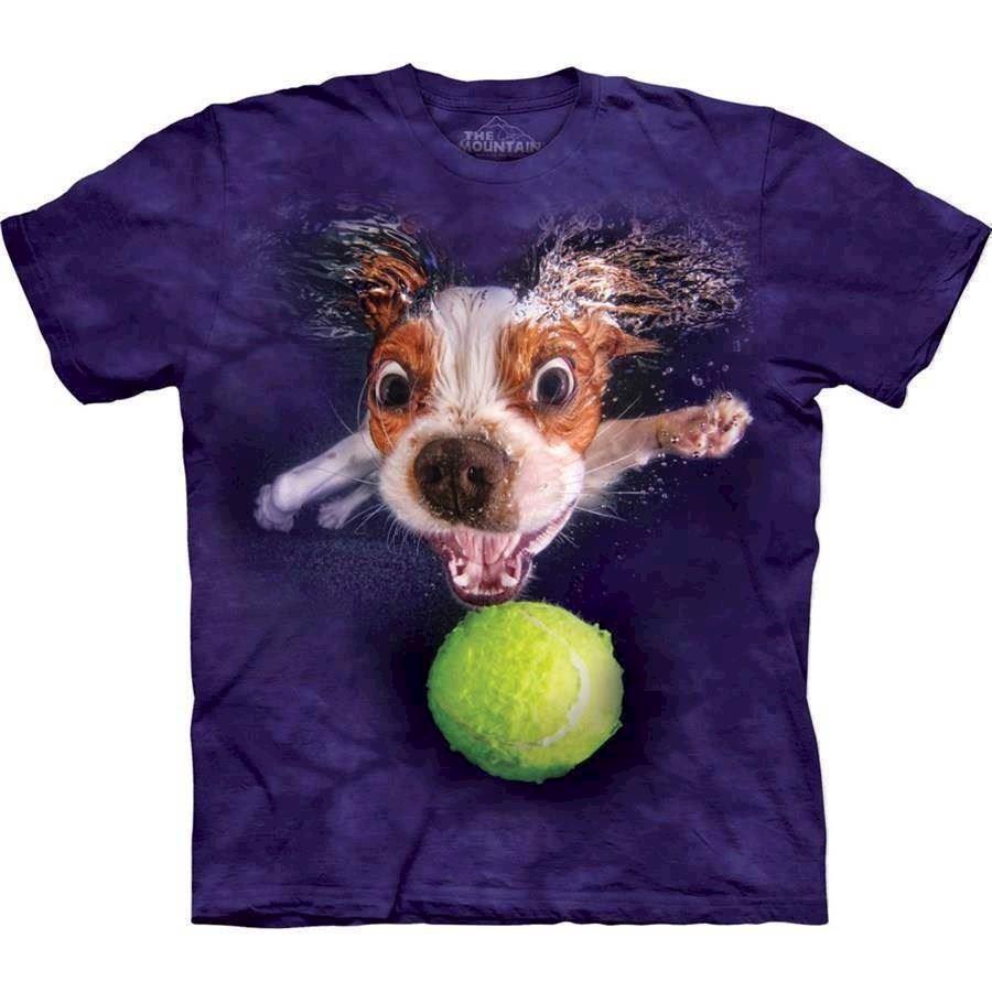 N/A Underwater dog monty t-shirt fra mypets.dk