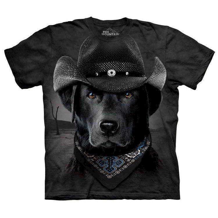 Cowboy labrador t-shirt fra N/A fra mypets.dk