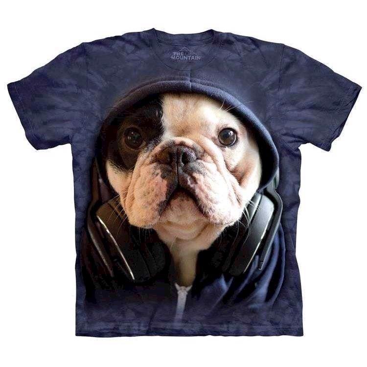 Dj manny fransk bulldog t-shirt fra N/A fra mypets.dk