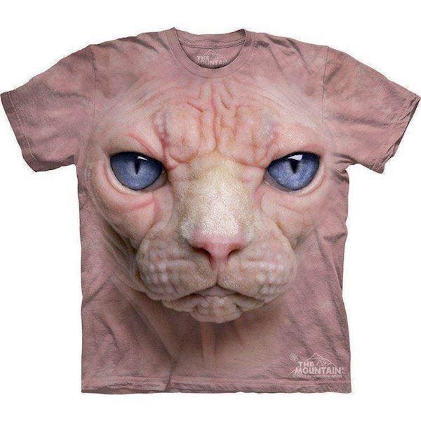 N/A – T-shirt hårløs kat ansigt i 3d på mypets.dk