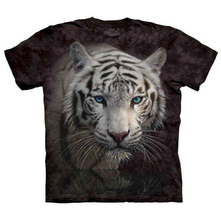N/A – T-shirts med hvid tiger fra mypets.dk