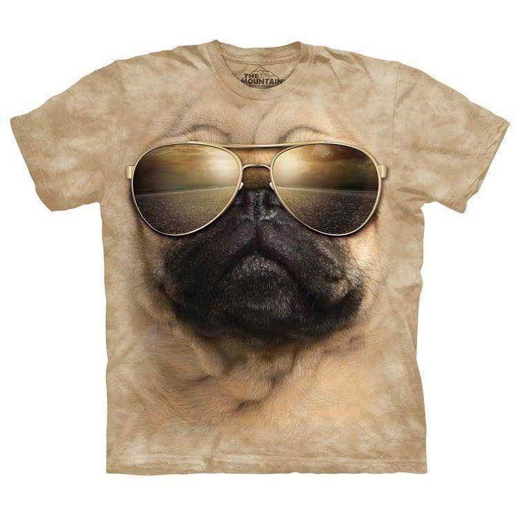 Aviator pug t-shirt fra N/A fra mypets.dk