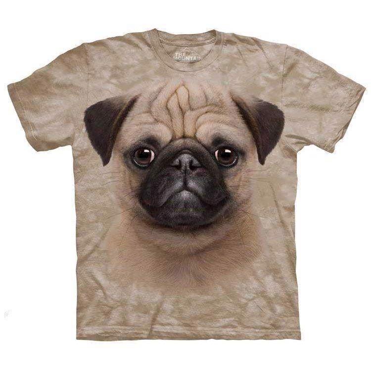 N/A – Mops hvalp t-shirt fra mypets.dk