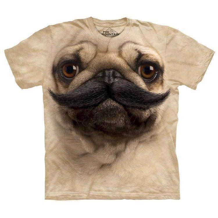 N/A Pugstache t-shirt på mypets.dk