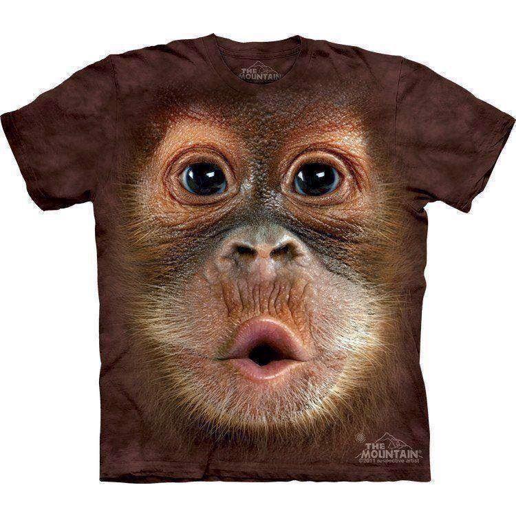 T-shirt med baby orangutang motiv fra N/A på mypets.dk