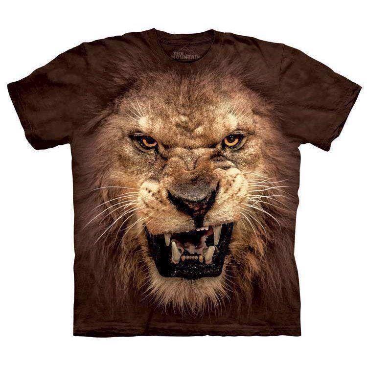 N/A T-shirts med brølende løve fra mypets.dk