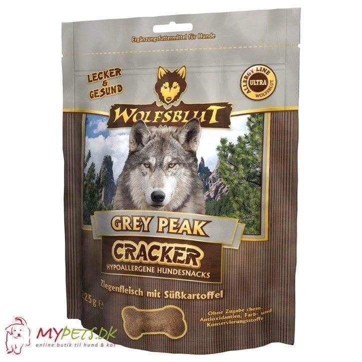 Wolfsblut cracker - grey peak - kornfri hundekiks fra N/A fra mypets.dk