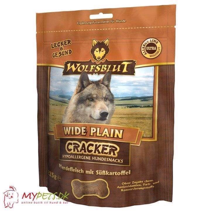 Wolfsblut cracker - wide plain - kornfri hundekiks fra N/A på mypets.dk